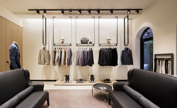 The Stores Interior Design Is Centered Around Idea Of Lightness A Gleaming Concrete Floor Arrangement Boxes Lined In Suede Linen And Satin
