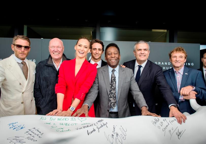 Lapo Elkann, Jean-Claude Biver, Bar Refaeli, Esteban Gutiérrez, Pelé, Ricardo Guadalupe and Daniel Rossellat
